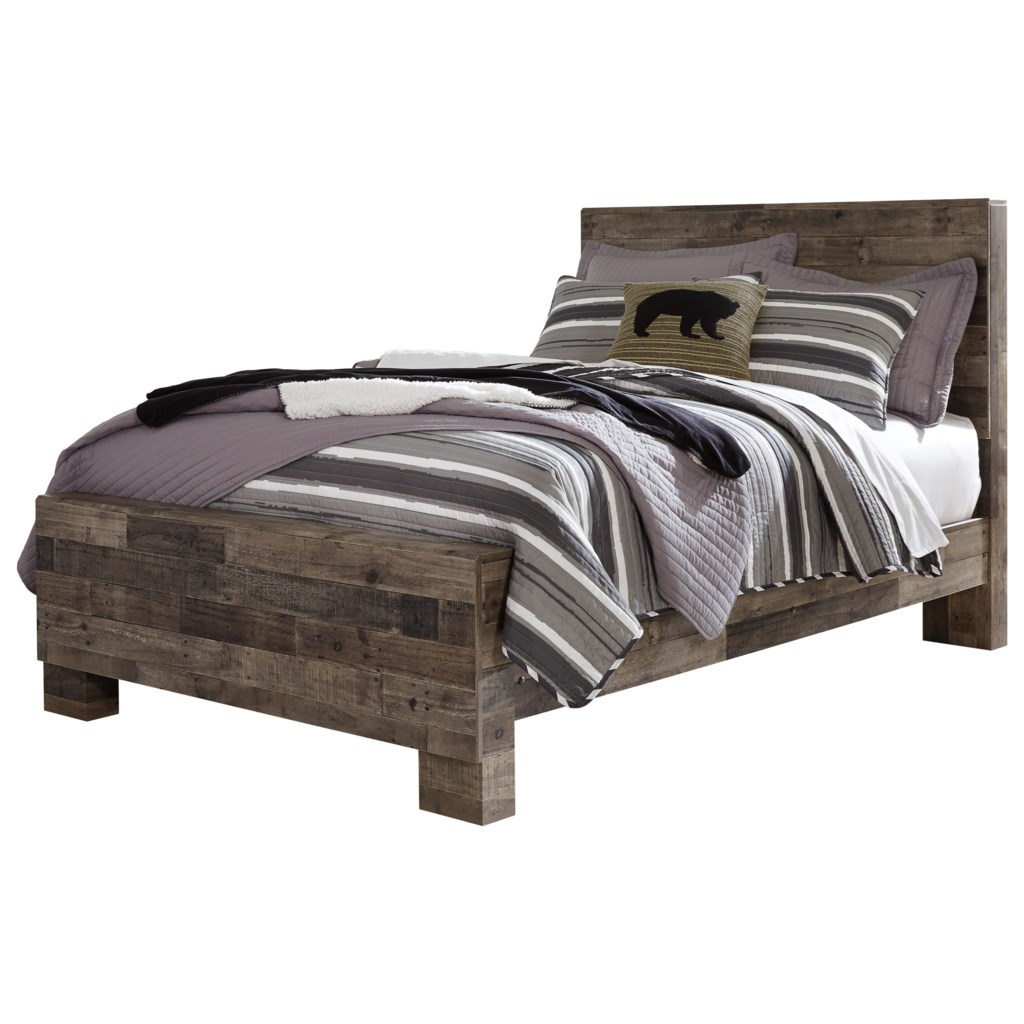 Benchcraft Derekson Rustic Modern Full Panel Bed Michael S