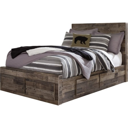 Full Storage Bed with 6 Drawers