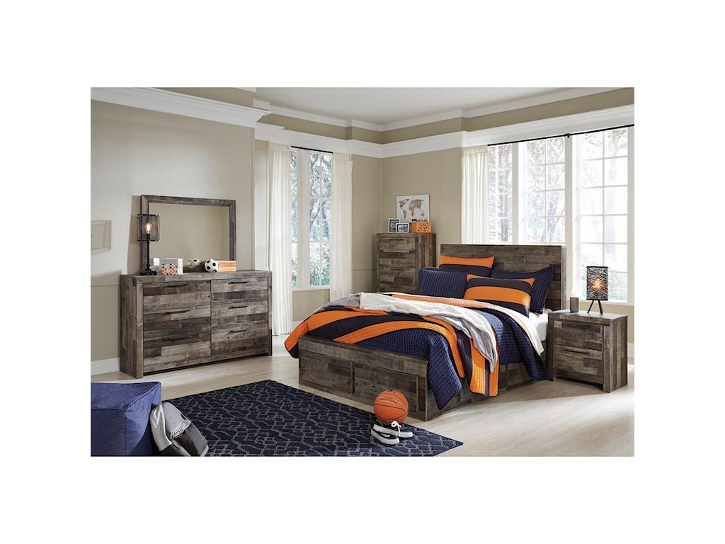 Benchcraft DereksonFull Storage Bed with 6 Drawers