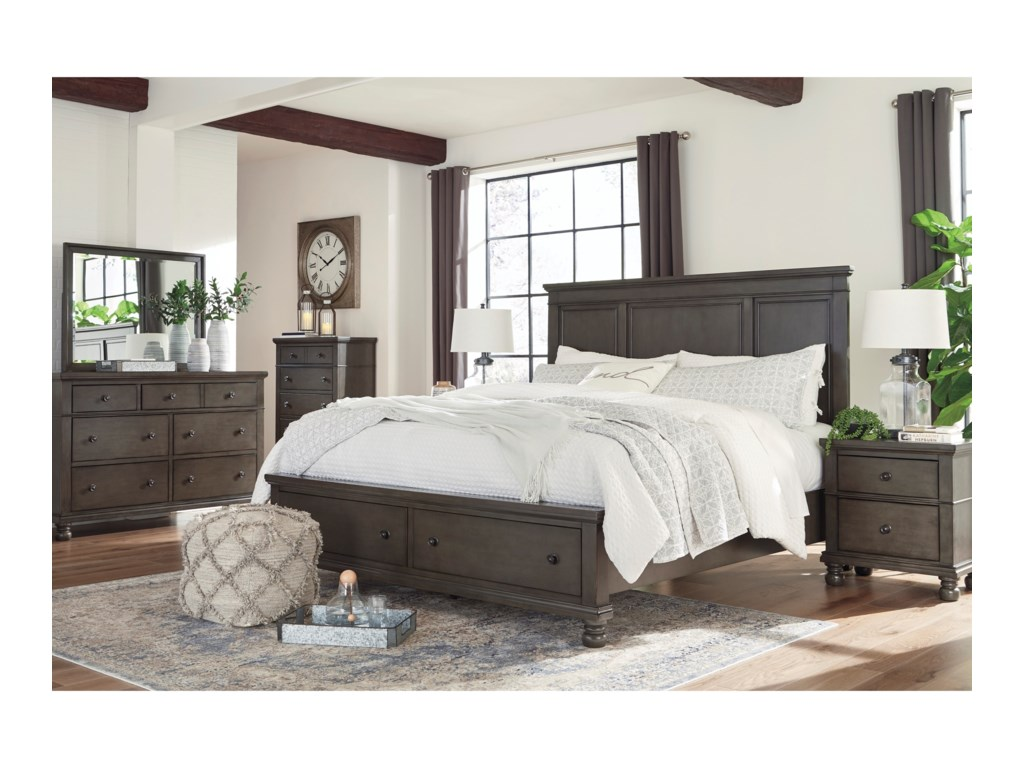 Benchcraft DevenstedQueen Panel Bed