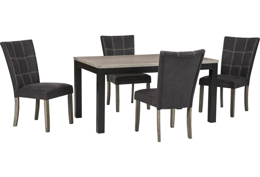 Benchcraft Dontally D294 25 4x01 5 Piece Rectangular Dining Table Set Dunk Bright Furniture Dining 5 Piece Sets