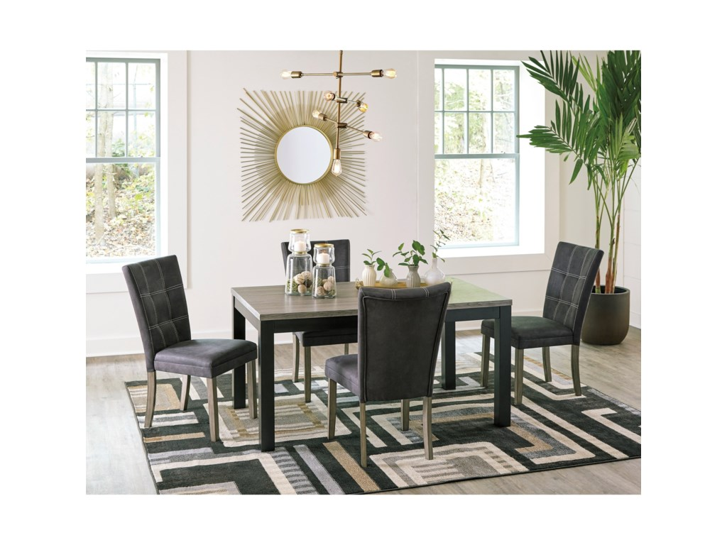 Benchcraft by Ashley Dontally5-Piece Rectangular Dining Table Set