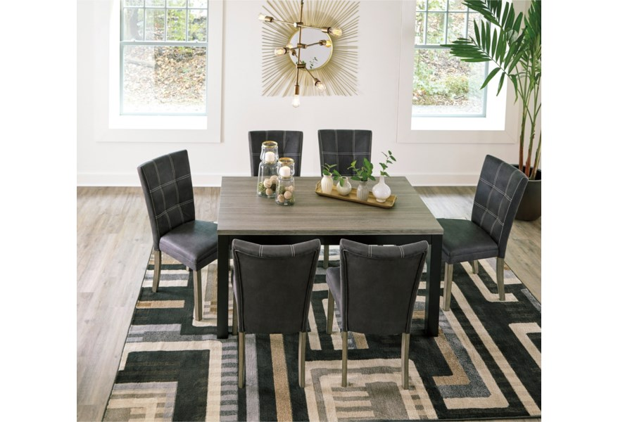 Benchcraft Dontally Rectangular Dining Room Table With Melamine Top Rooms And Rest Dining Tables