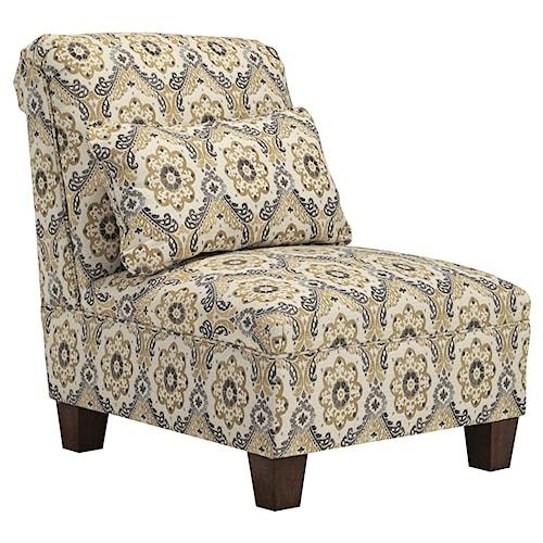 Benchcraft Emelen Armless Chair with Accent Pillow