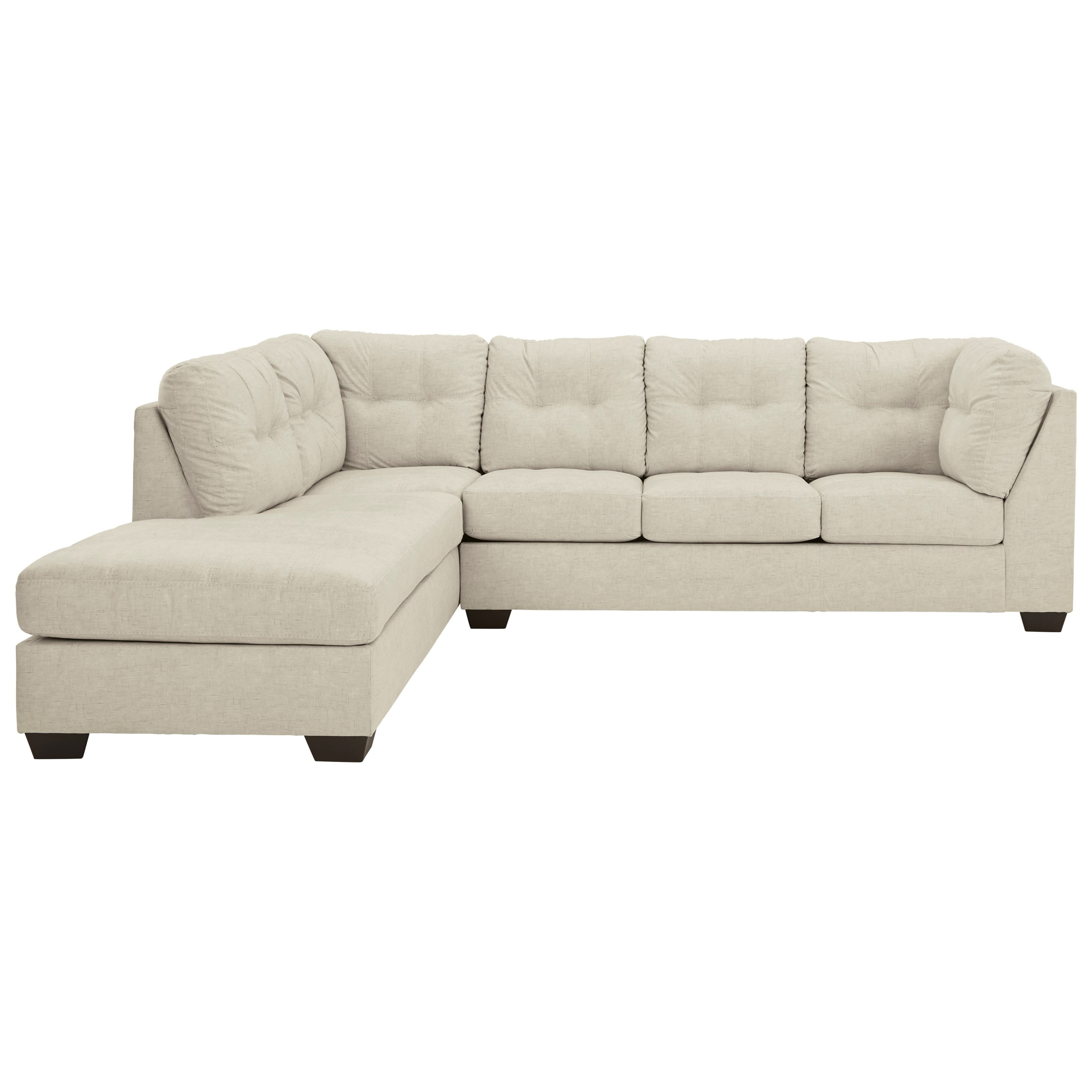 2-Piece Sectional with Left Chaise & Full Sleeper