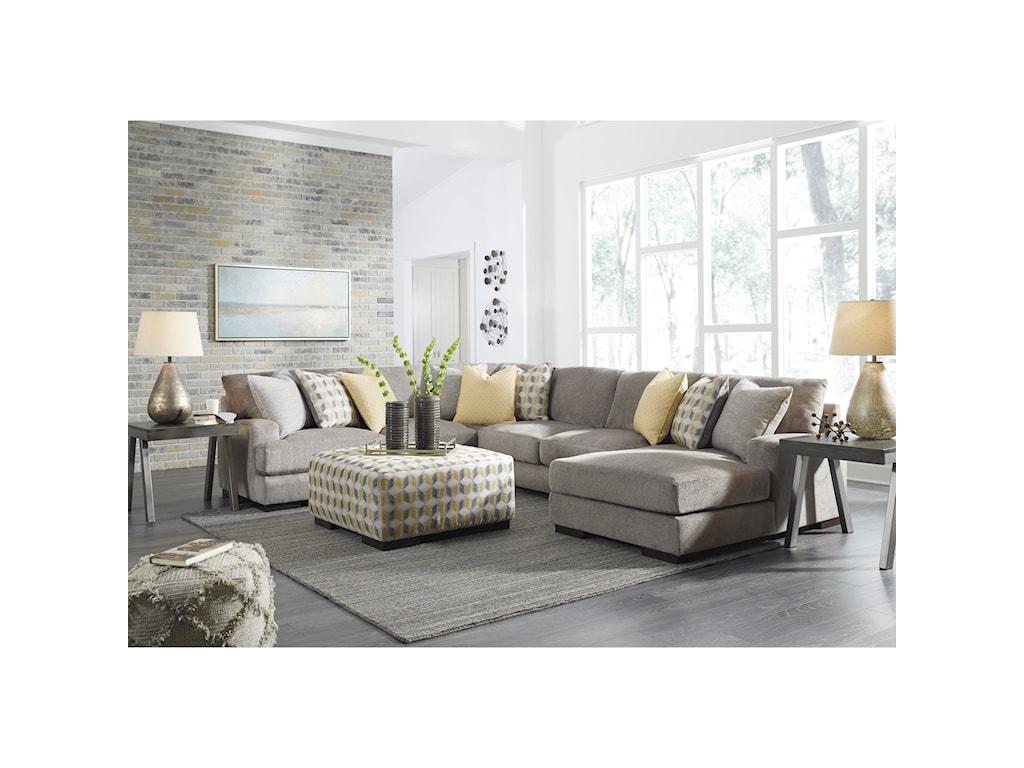 benchcraft fallsworth living room group virginia furniture market