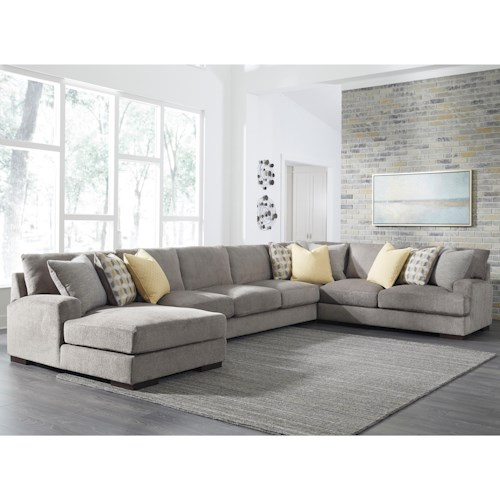 Benchcraft Fallsworth Large Contemporary 4 Piece Sectional