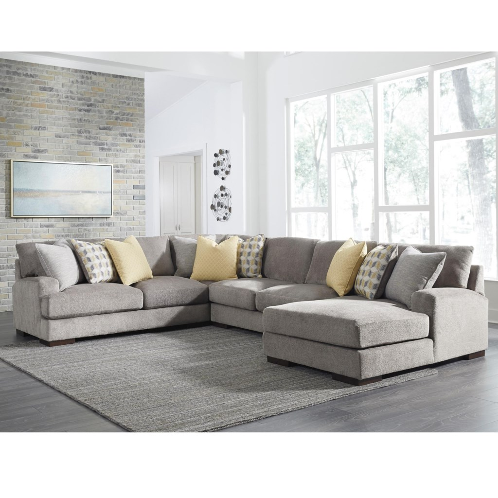 Benchcraft By Ashley Fallsworth Contemporary 4 Piece Sectional