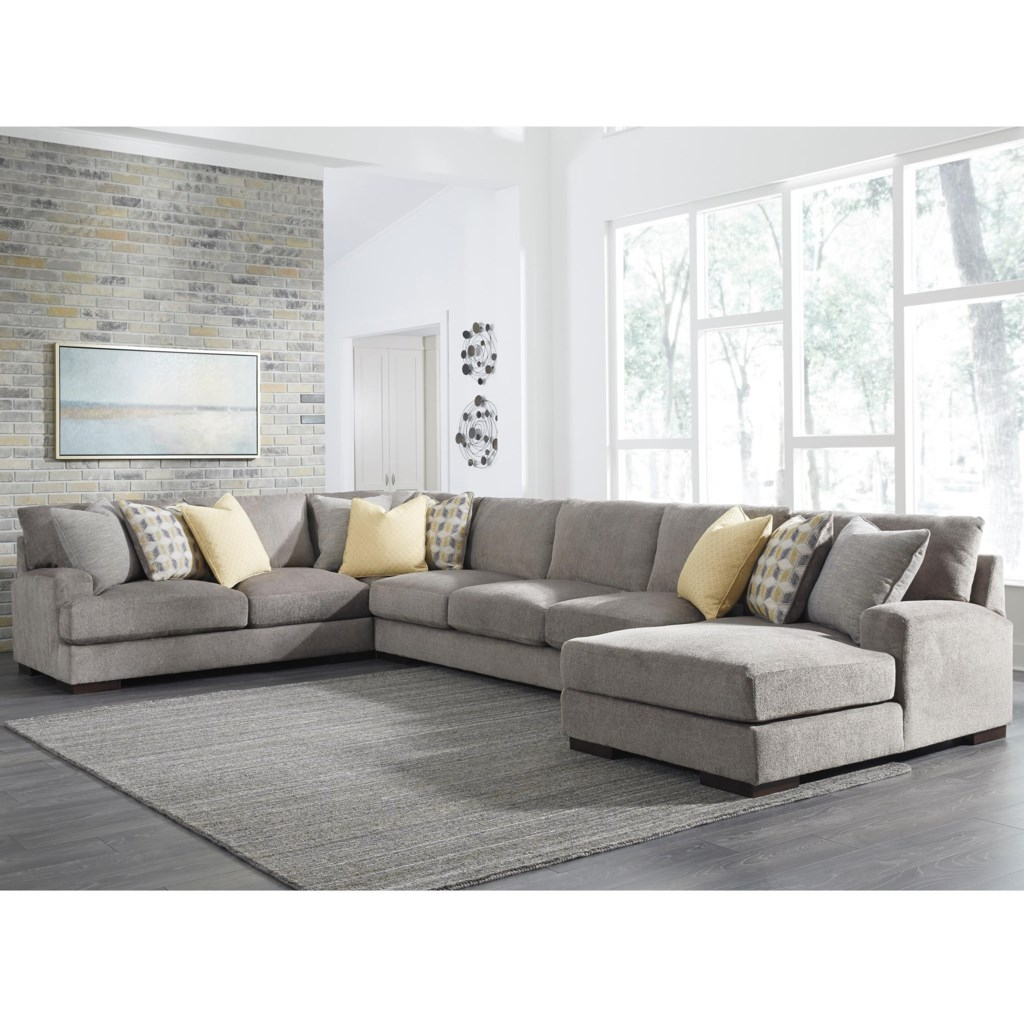 Signature Design By Ashley Fallsworth Large Contemporary 4 Piece