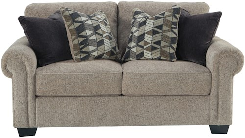 Benchcraft Fehmarn Loveseat with Rolled Arms