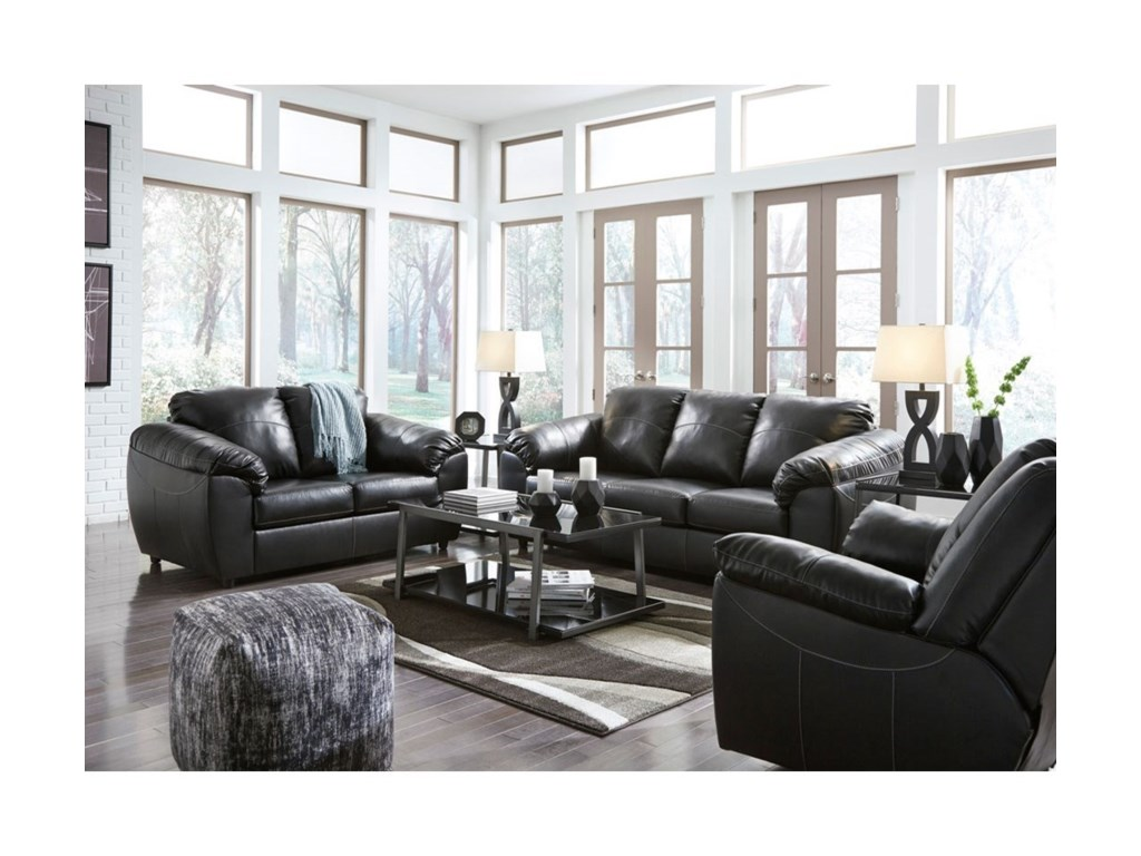 Benchcraft Fezzman Casual Living Room Group with Sofa Sleeper ...