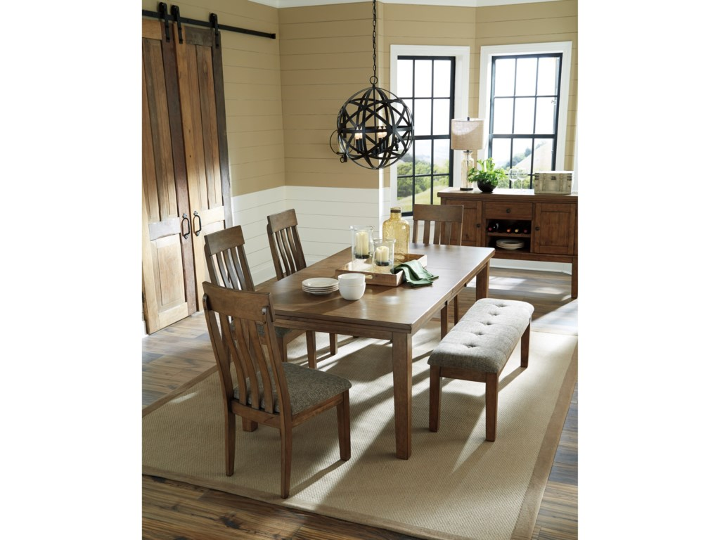 Benchcraft Flaybern6 Piece Table and Chair Set