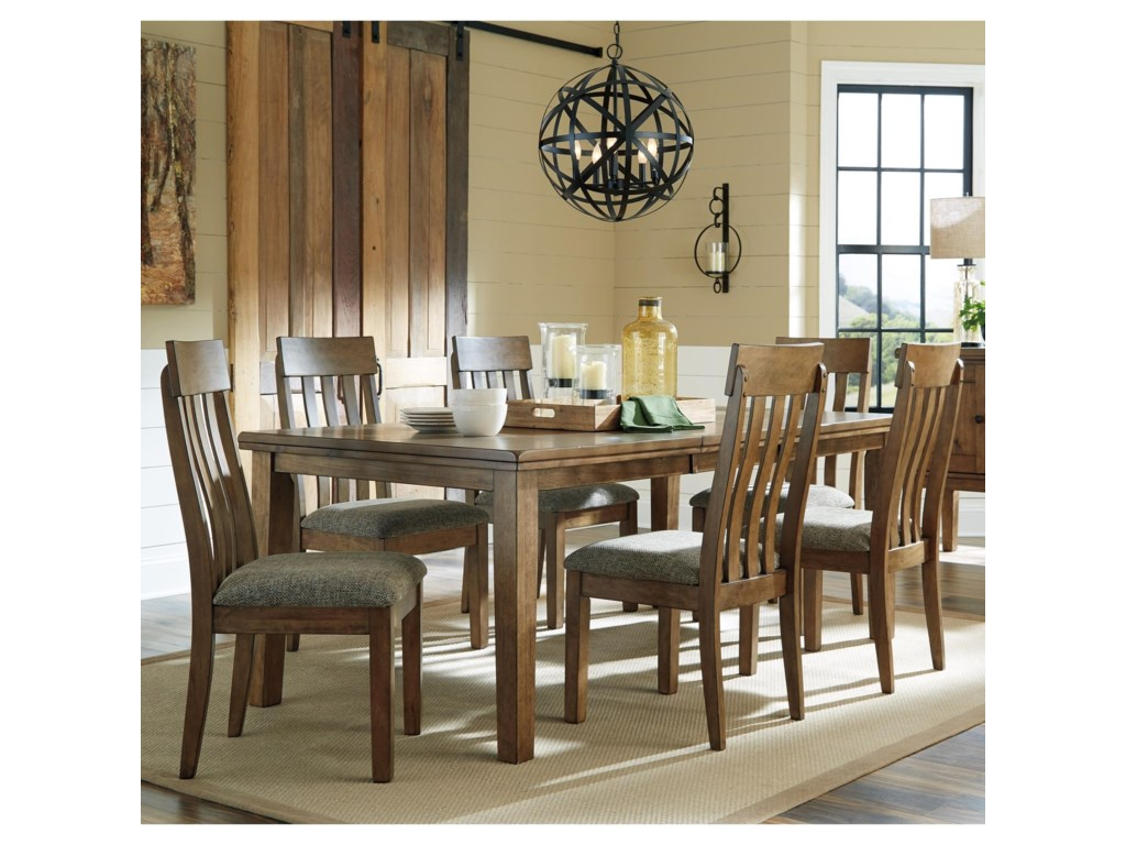 Benchcraft Flaybern7 Piece Table and Chair Set