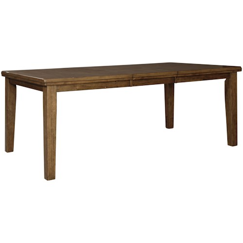 Rectangular Dining Room Tables With Leaves: Benchcraft Flaybern D595-35 Rectangular Dining Room