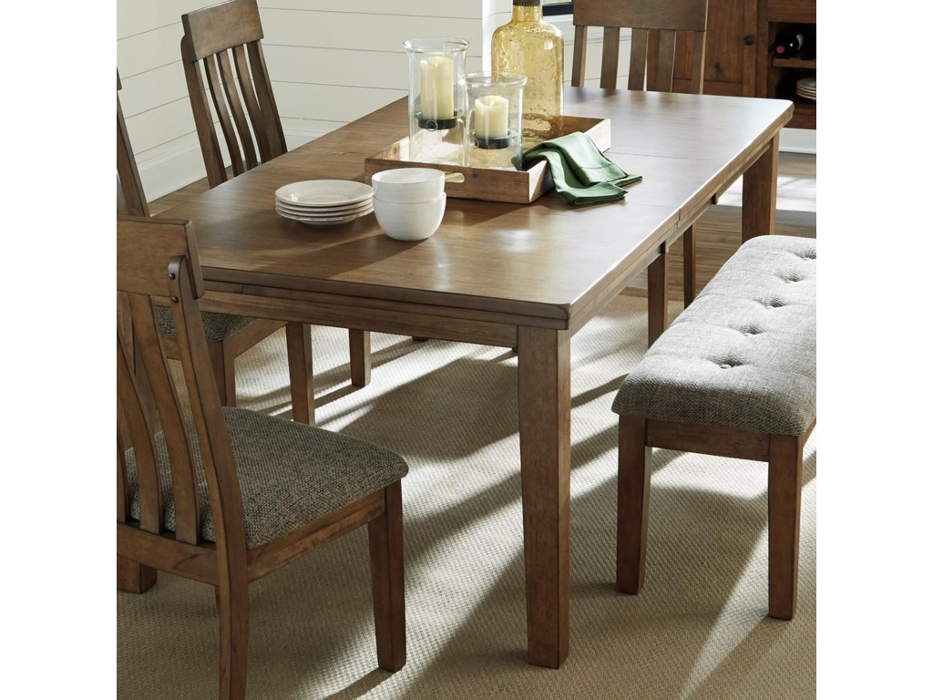 Benchcraft FlaybernRectangular Dining Room Butterfly Leaf Table