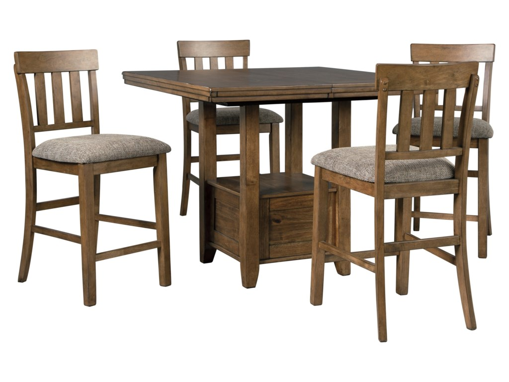 Benchcraft Flaybern 5 Piece Pub Dining Set Rooms And Rest Pub