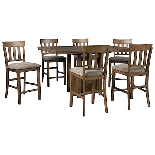 Benchcraft Flaybern 7 Piece Pub Dining Set