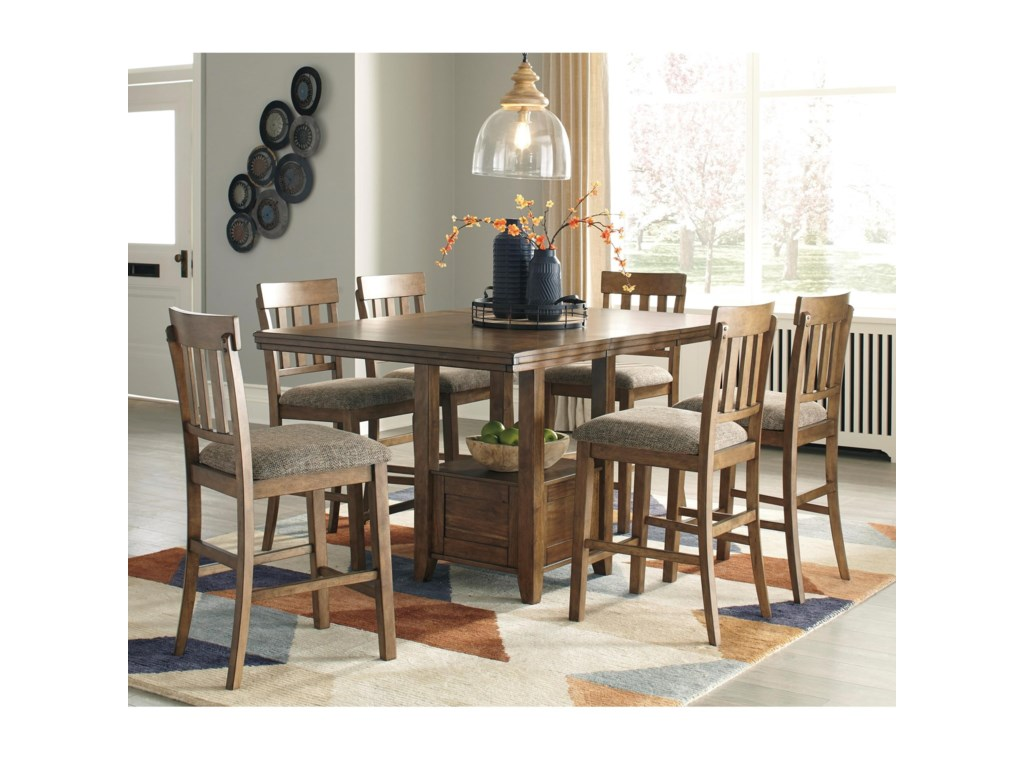 Benchcraft Flaybern7-Piece Counter Table Set