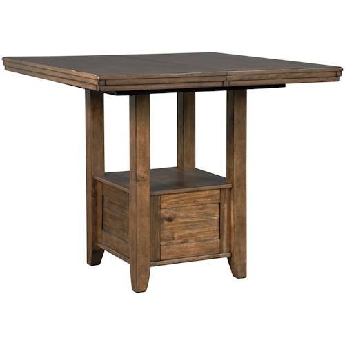 Benchcraft Flaybern Rustic Casual Rectangular Extension Counter Table