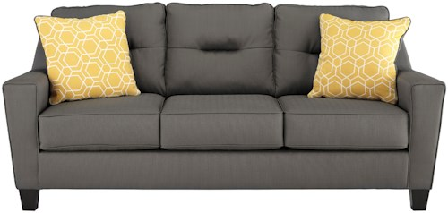 Benchcraft Forsan Nuvella Contemporary Sofa in Performance Fabric
