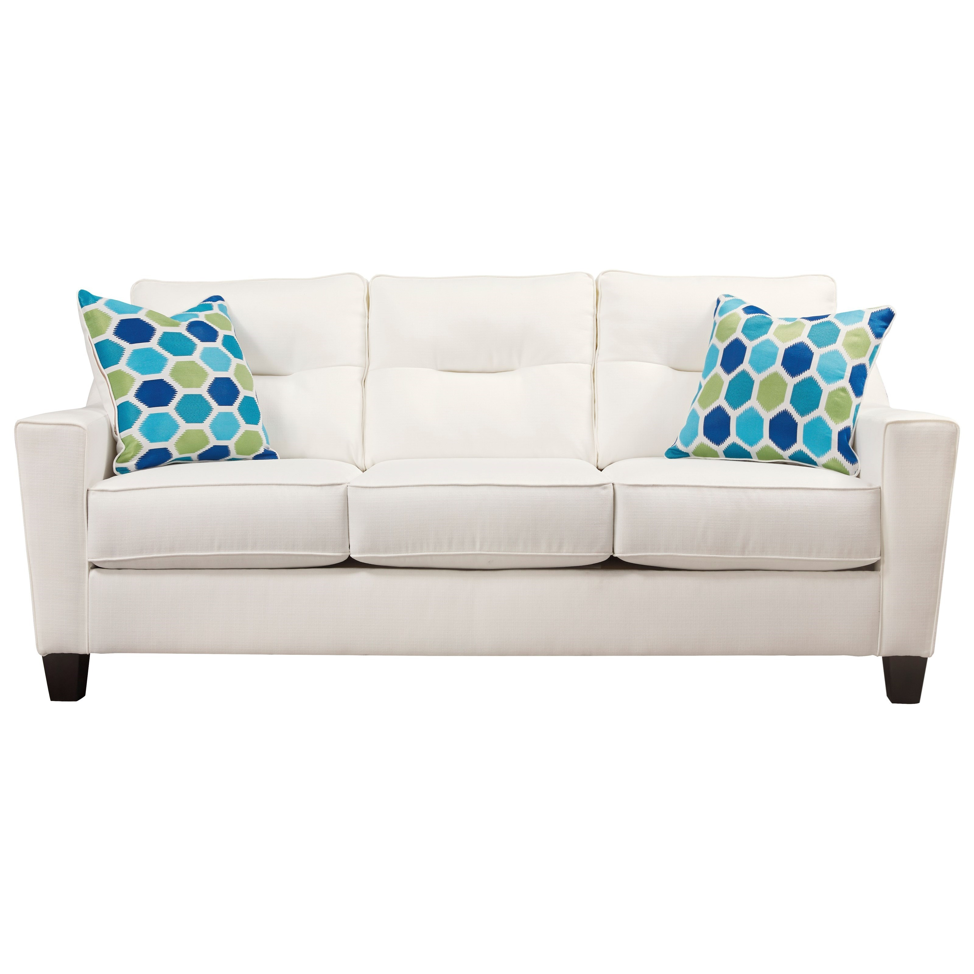 Benchcraft Forsan Nuvella Contemporary Sofa In Performance Fabric    Miskelly Furniture   Sofas