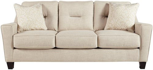 Benchcraft by Ashley Forsan Nuvella Contemporary Sofa in Performance Fabric