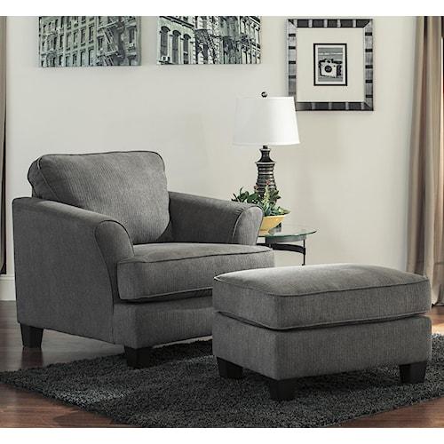 Benchcraft Gayler Contemporary Chair & Ottoman