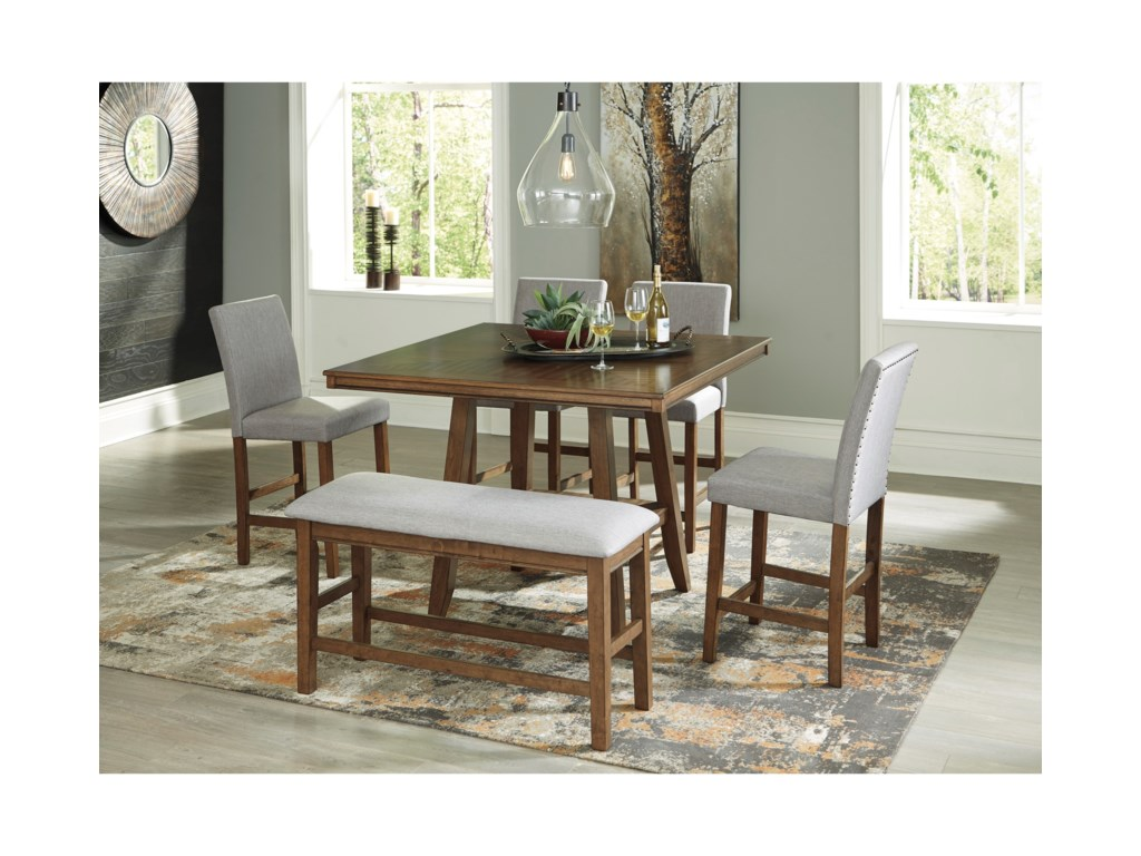 Benchcraft Glennox6-Piece Counter Height Table Set with Bench