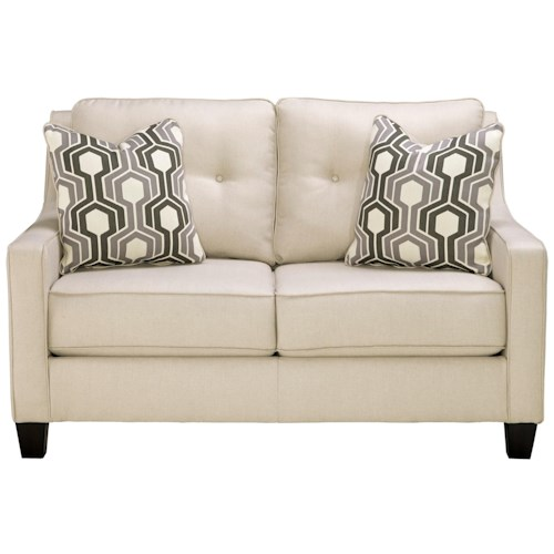 Benchcraft Guillerno Contemporary Loveseat With Coil Seat Cushions Walker 39 S Furniture Love