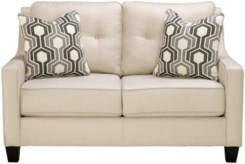 Benchcraft Guillerno Contemporary Loveseat with Coil Seat Cushions