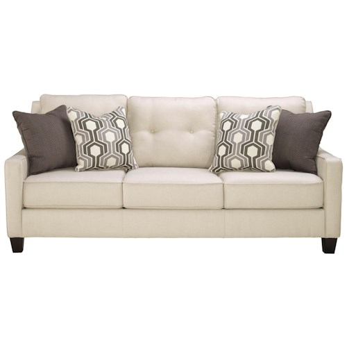 Benchcraft Guillerno Contemporary Sofa with Coil Seat Cushions