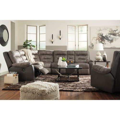 Benchcraft Hacklesbury Reclining Living Room Group