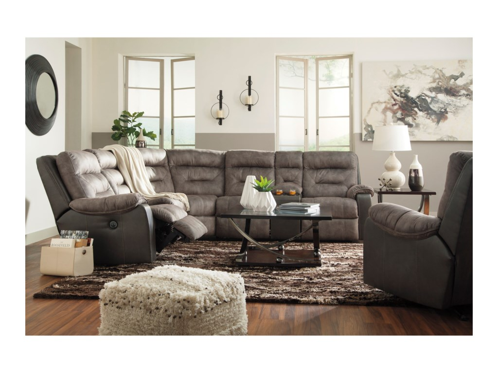Benchcraft by Ashley HacklesburyReclining Sectional