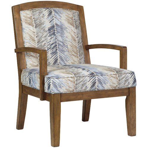 Benchcraft Hillsway Contemporary Wood Frame Accent Chair | Casa ...