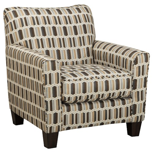 Benchcraft Kacie Contemporary Accent Chair with Geometric Print Fabric
