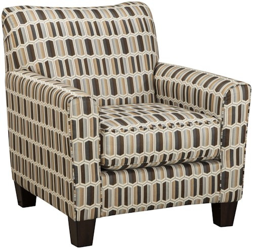 Benchcraft Janley Contemporary Accent Chair with Geometric Print Fabric