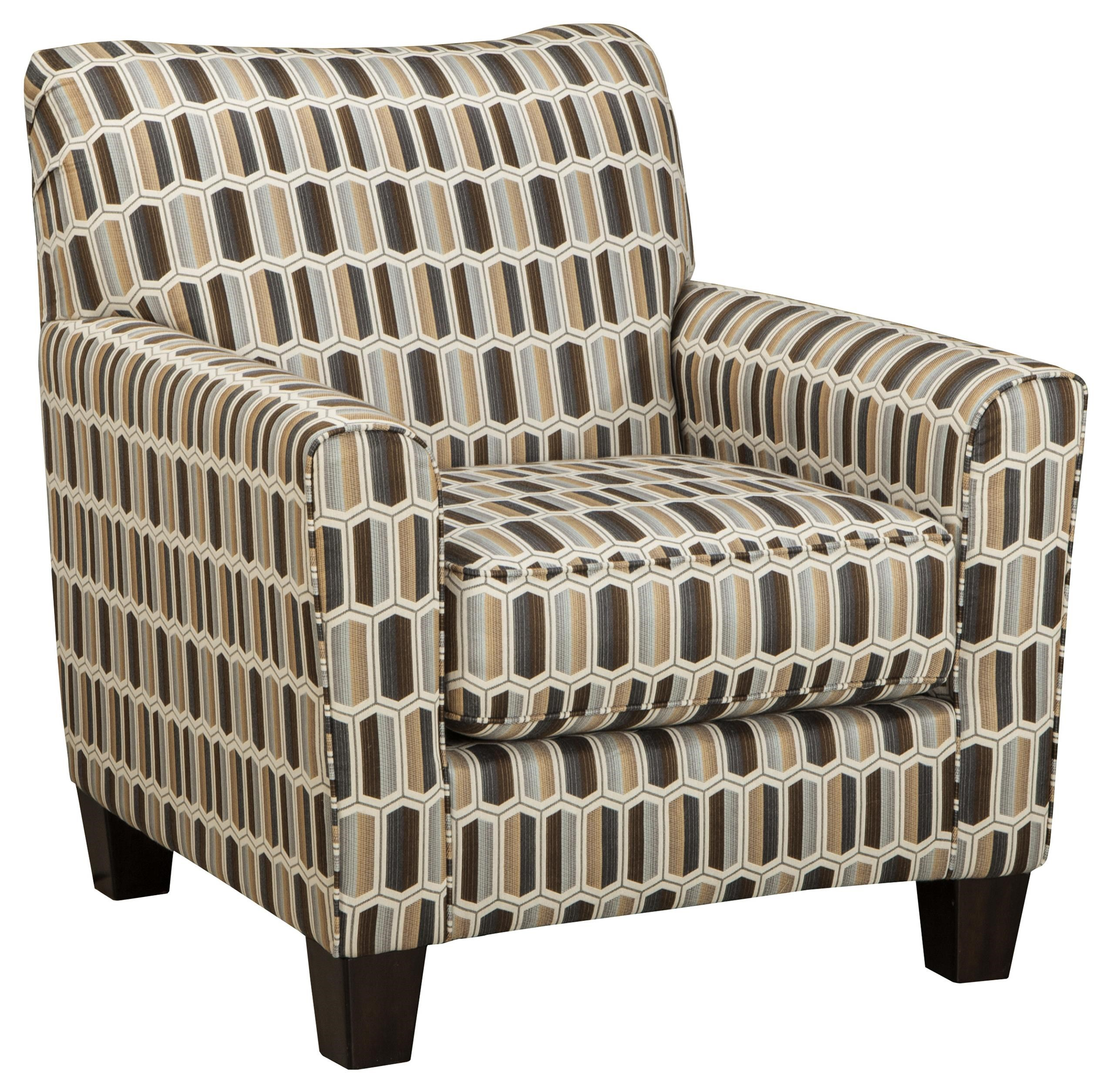 Janley Contemporary Accent Chair With Geometric Print Fabric   Becker  Furniture World   Upholstered Chairs