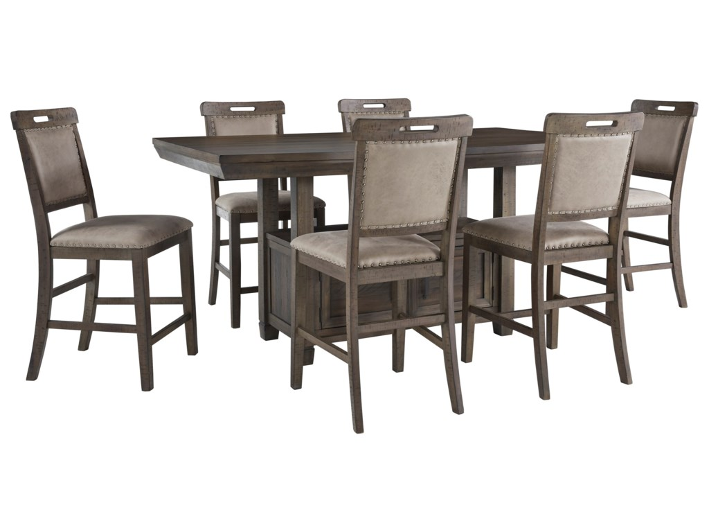 Benchcraft Johurst7-Piece Counter Height Dining Set