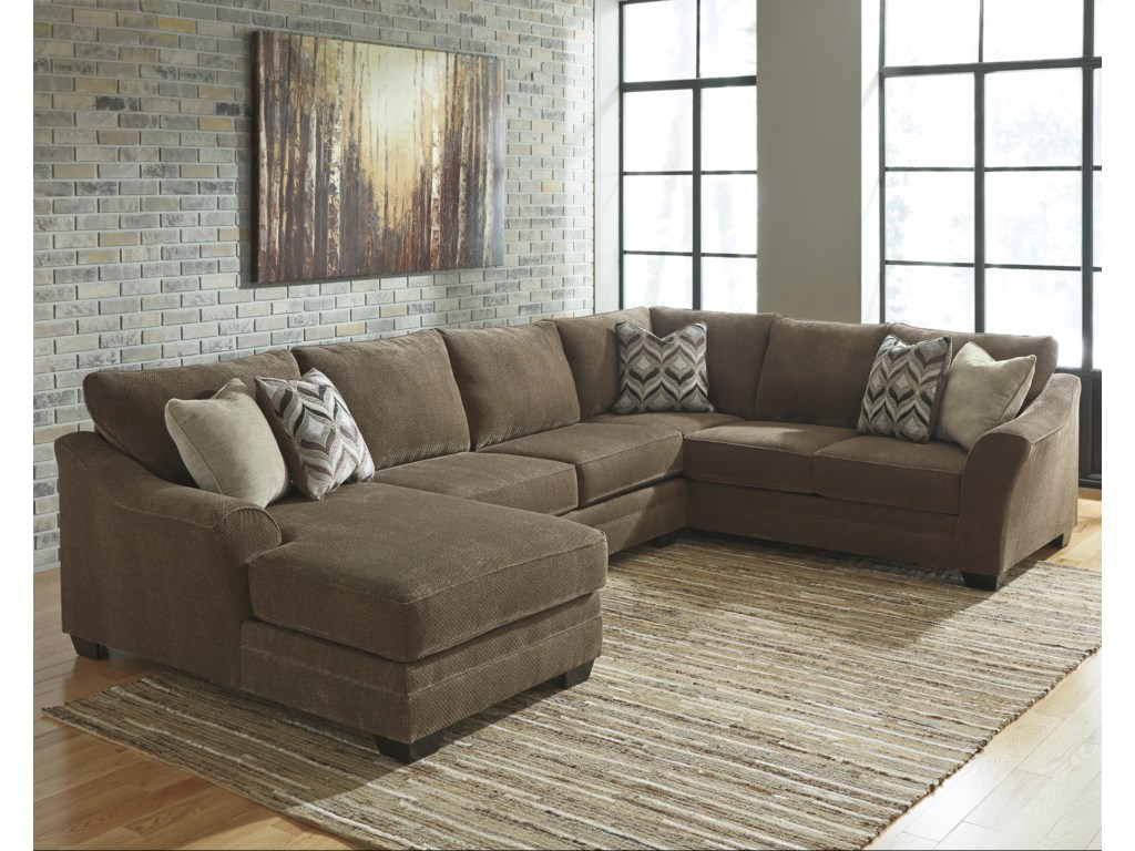 Justyna Contemporary 3-Piece Sectional with Left Chaise by Benchcraft at  Corner Furniture