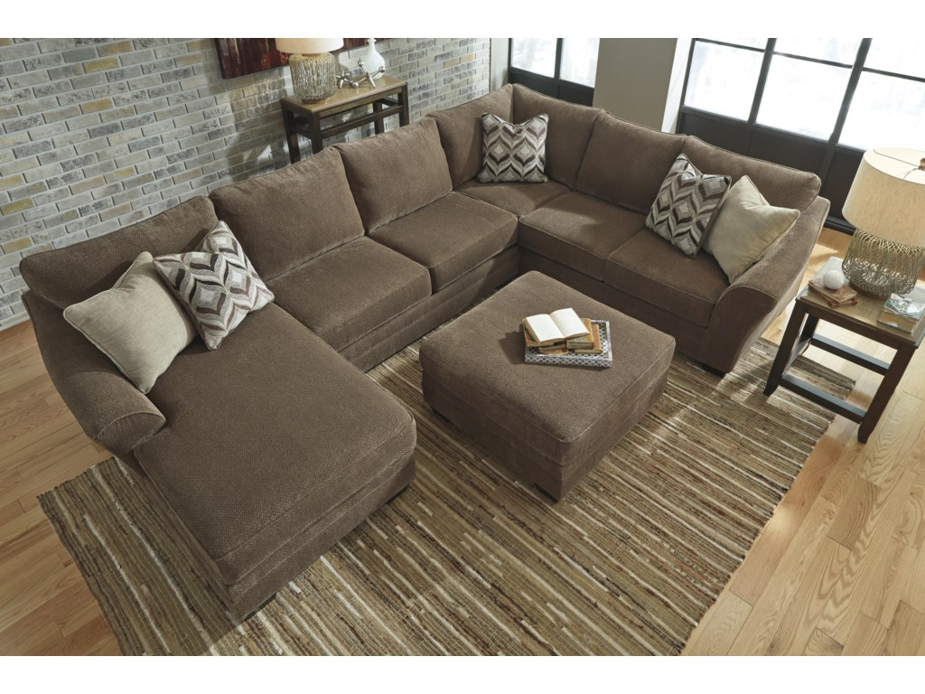 Benchcraft Justyna3-Piece Sectional with Left Chaise