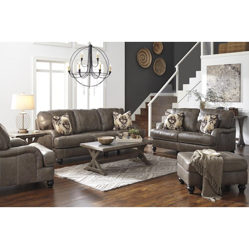 Benchcraft Kannerdy Stationary Living Room Group