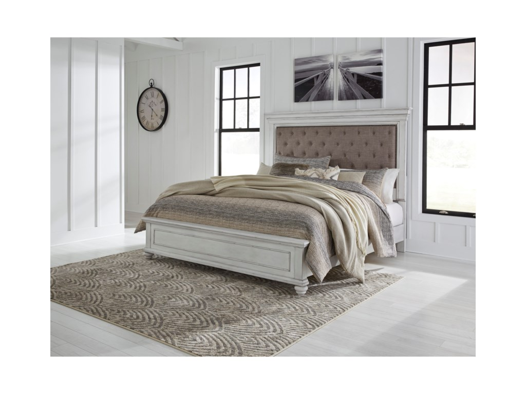 Benchcraft KanwynKing Upholstered Bed