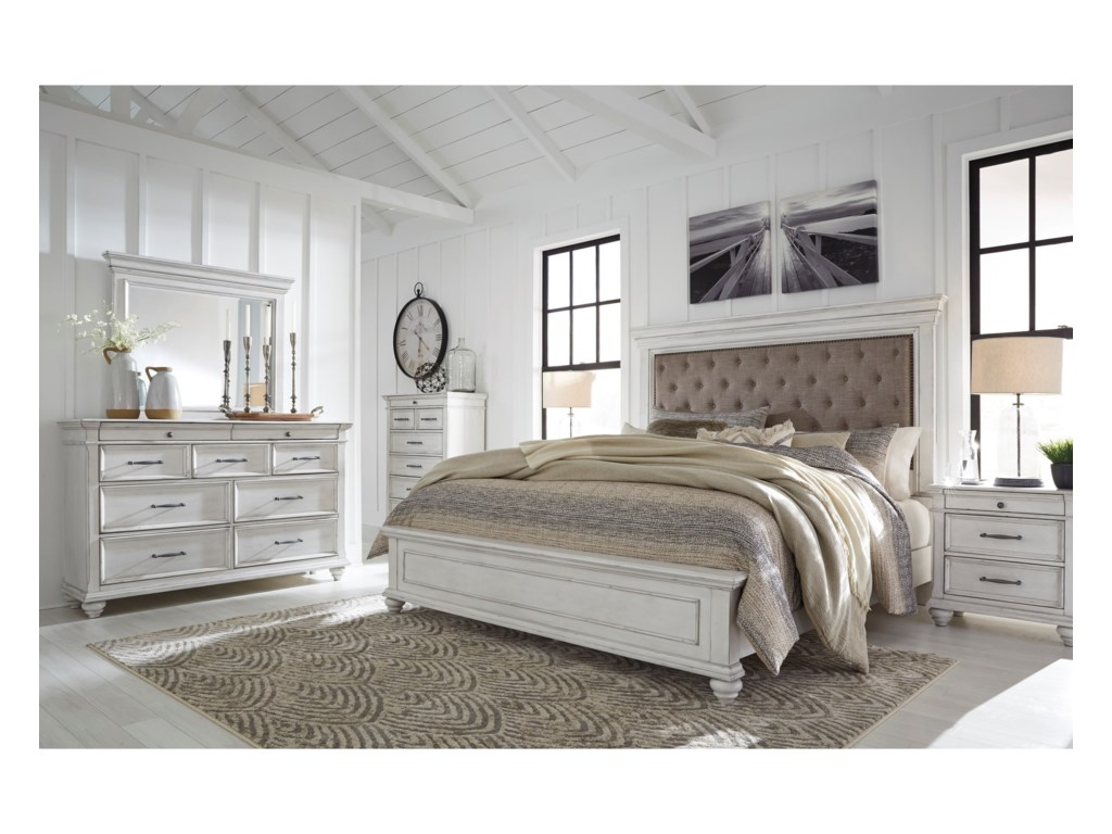 Benchcraft KanwynQueen Upholstered Bed