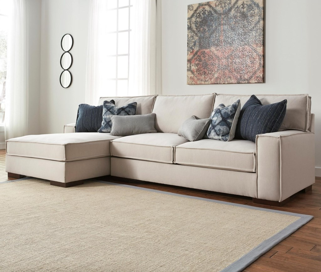 Kendleton Modern 2 Piece Sectional with Left Chaise and UltraPlush