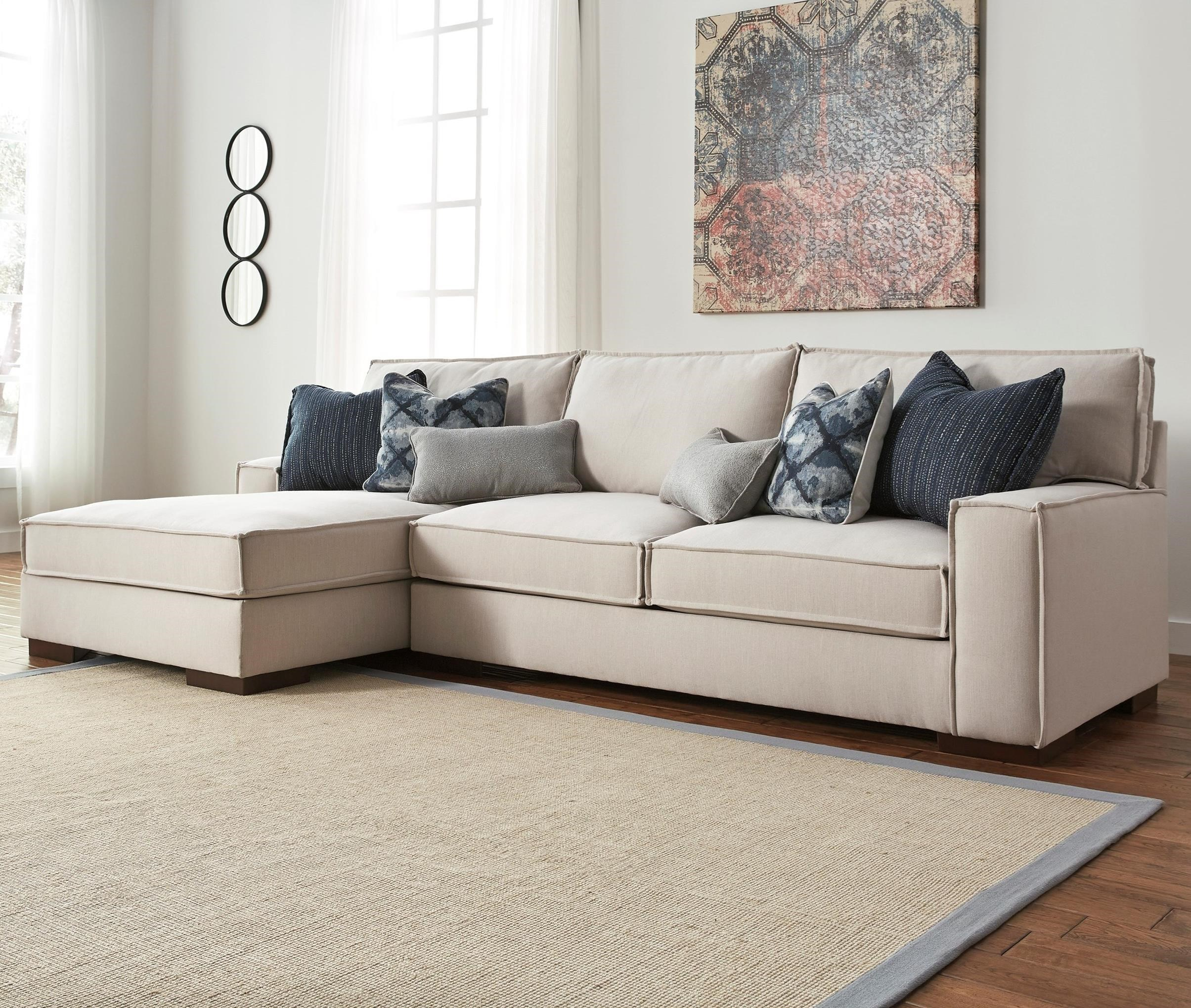 Attirant Benchcraft Kendleton Modern 2 Piece Sectional With Left Chaise And  UltraPlush Seat Cushions