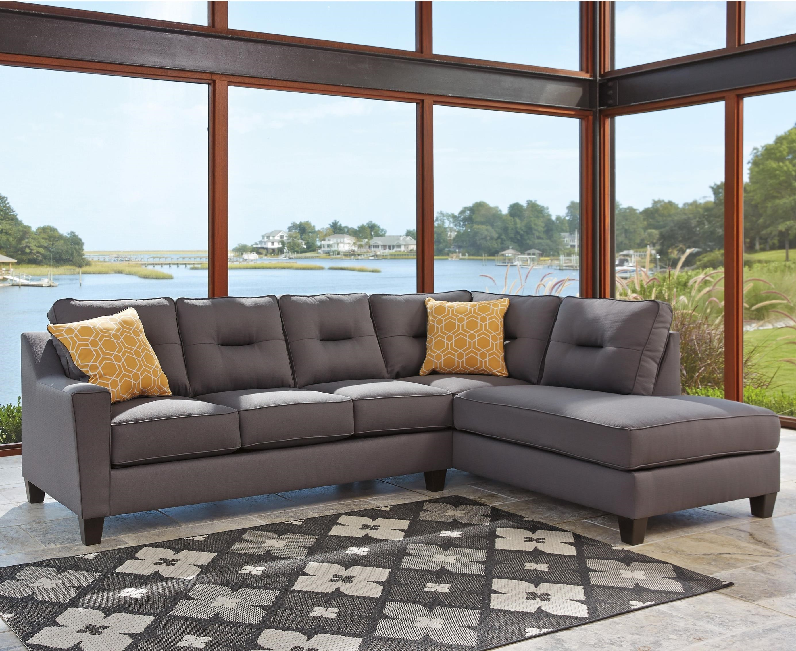 Benchcraft Kirwin NuvellaSectional With Chaise ...