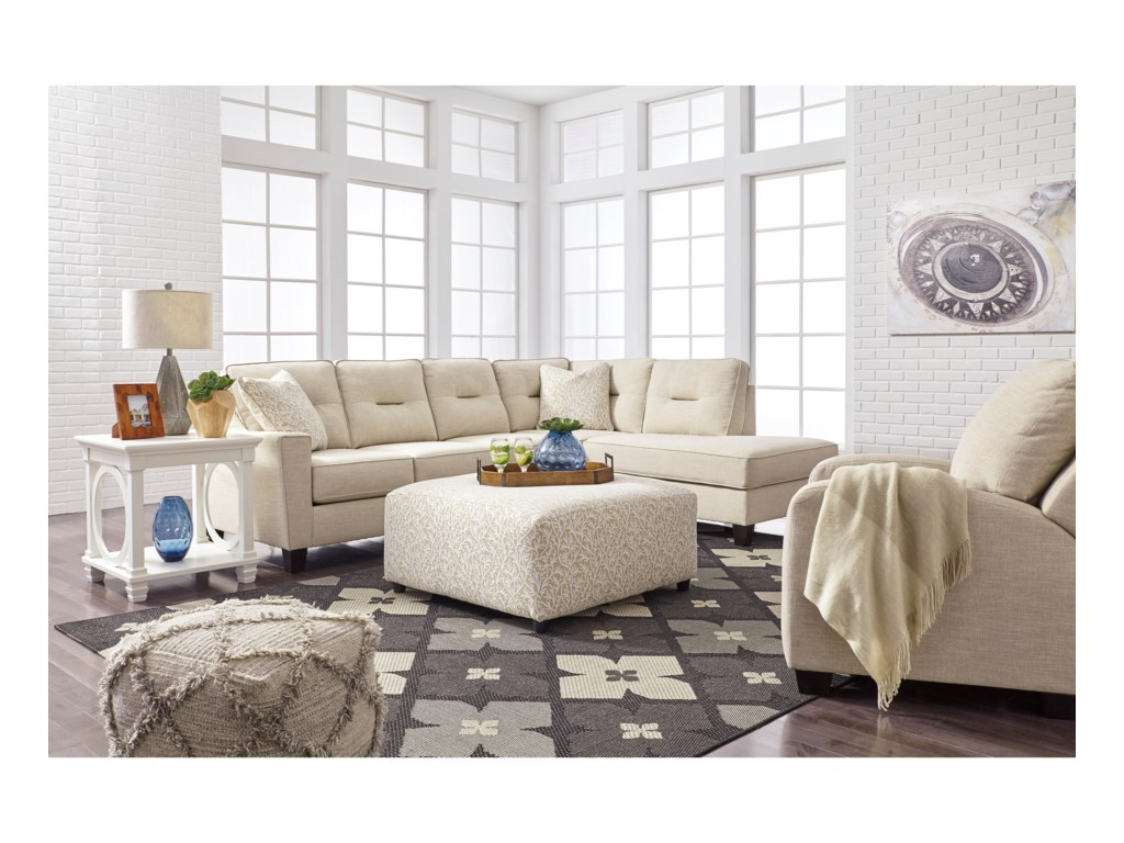 Benchcraft Kirwin Nuvella Stationary Living Room Group | Beck\'s ...