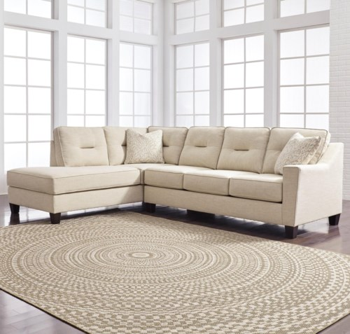 Popular Benchcraft Kirwin Nuvella Sectional with Sleeper Sofa & Left Chaise in Performance Fabric Simple - Awesome sofa sleeper sectionals In 2018