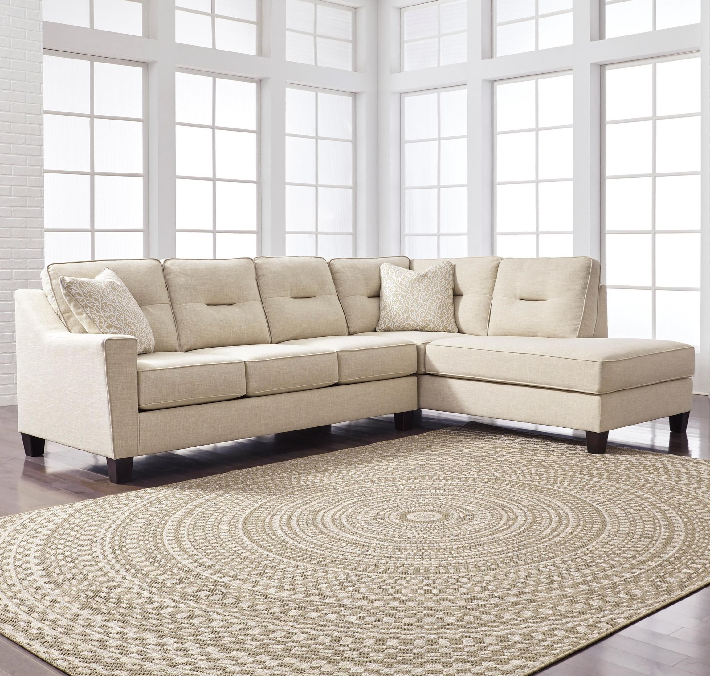 Benchcraft By Ashley Kirwin NuvellaSectional With Sleeper Sofa U0026 Chaise ...