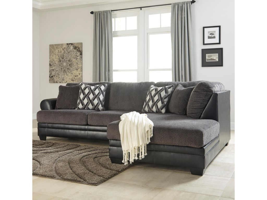 Benchcraft Kumasi2-Piece Sectional with Right Chaise